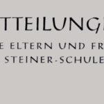 Schulgeschichte: Mitteilungen Februar 1960